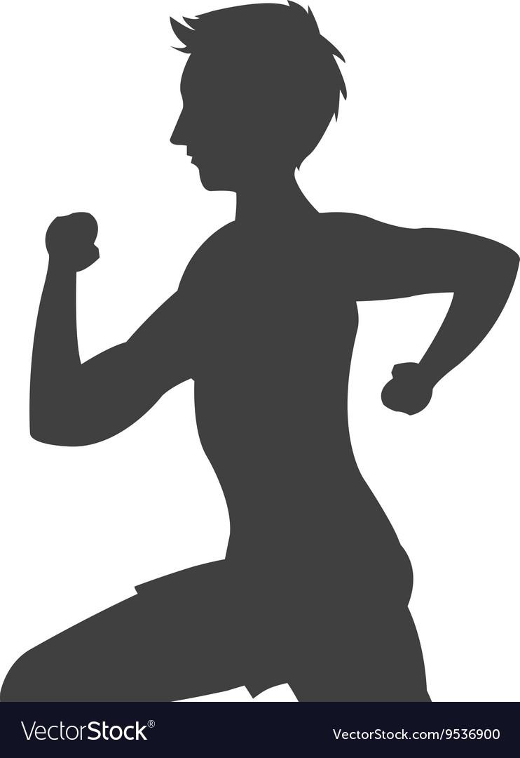 Man running silhouette icon