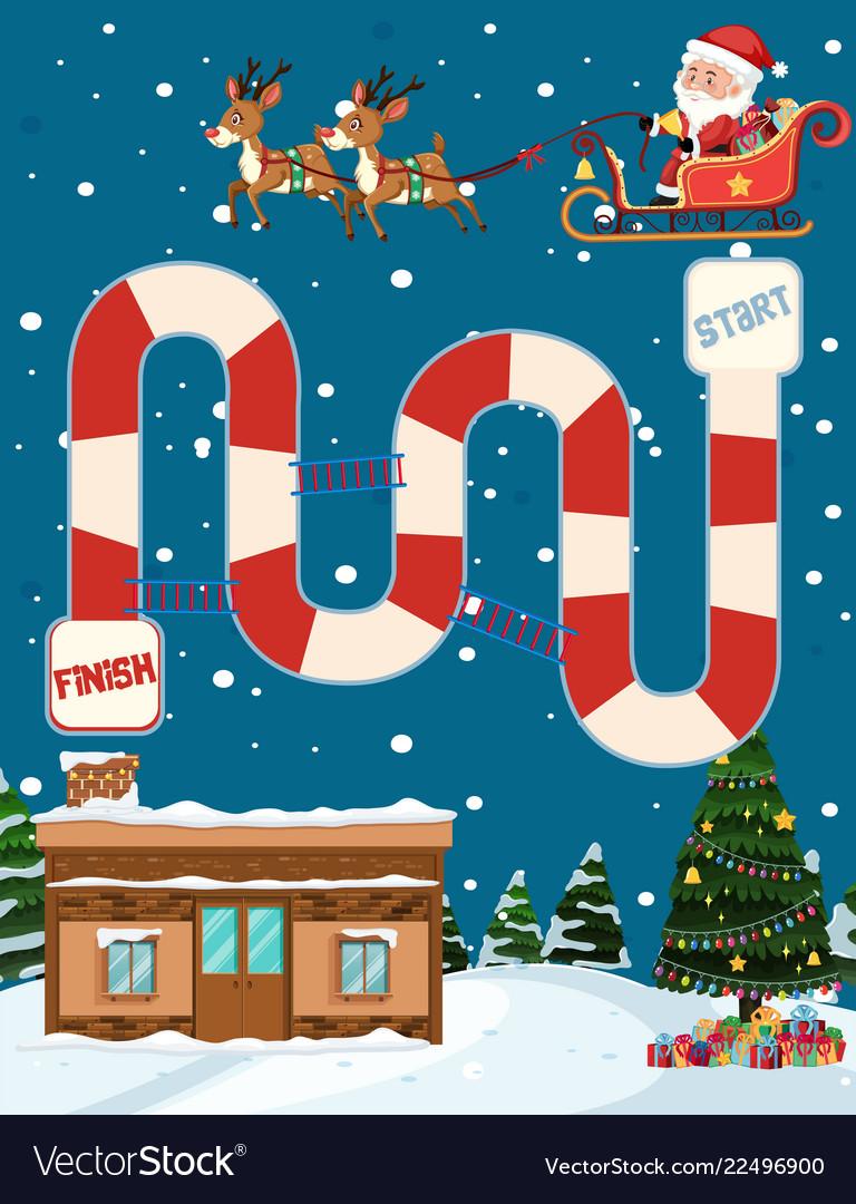 Christmas Board Design.Merry Christmas Board Game