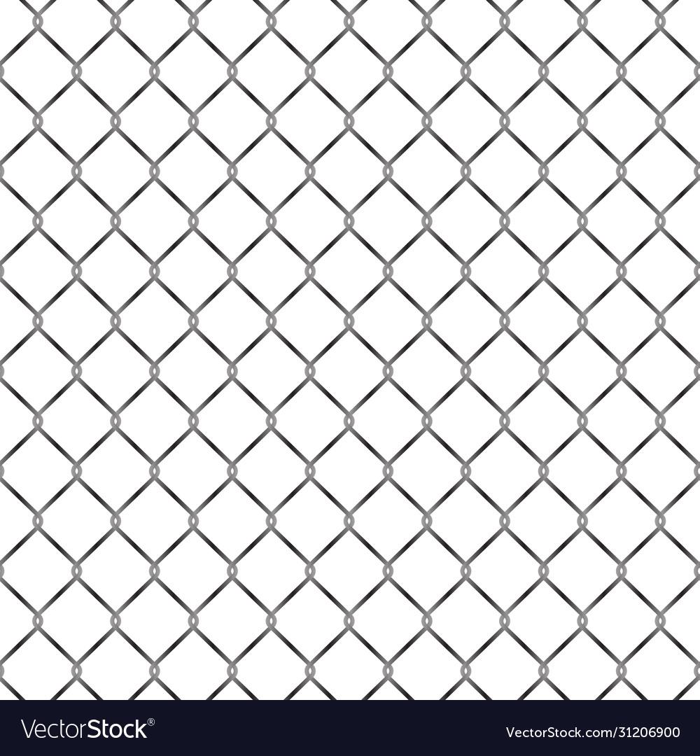Seamless metal grid fence pattern design