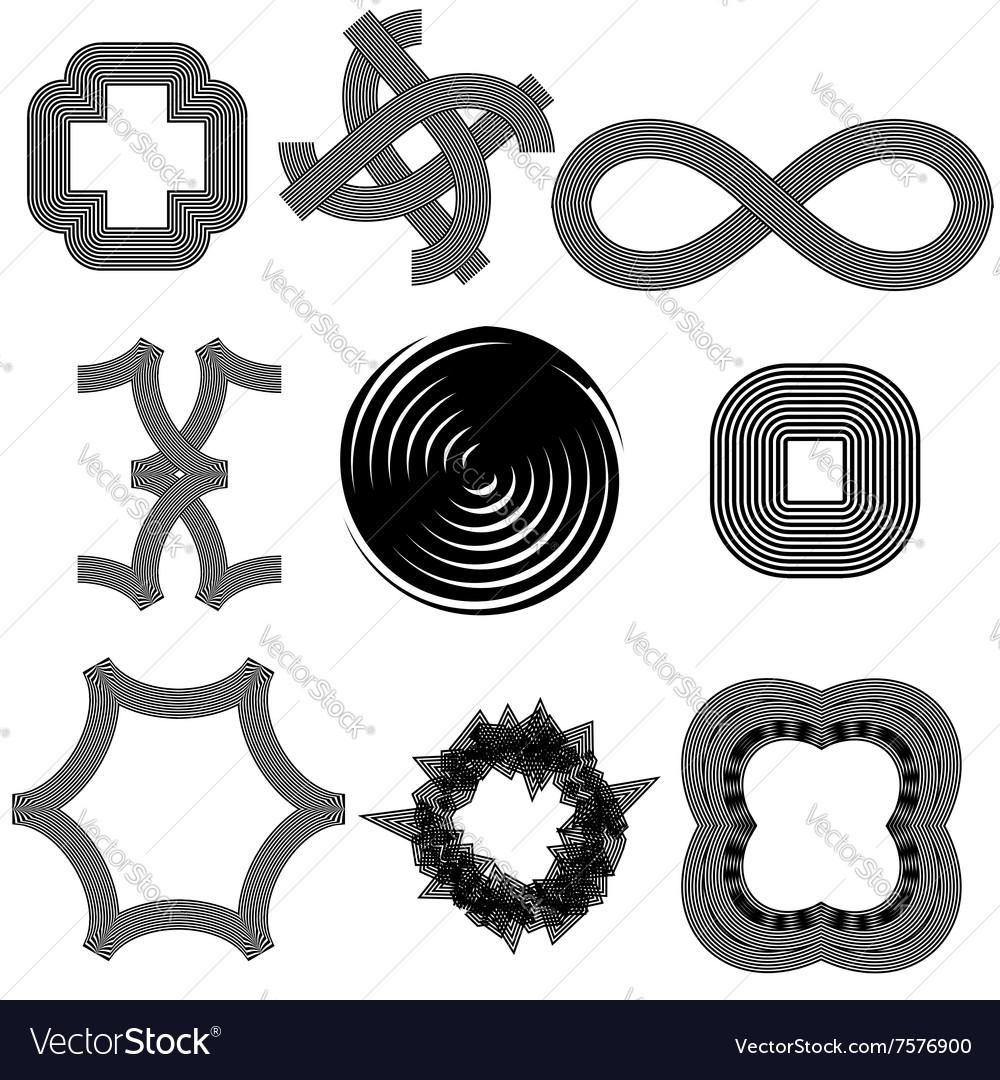 Set f Different Geometric Shapes