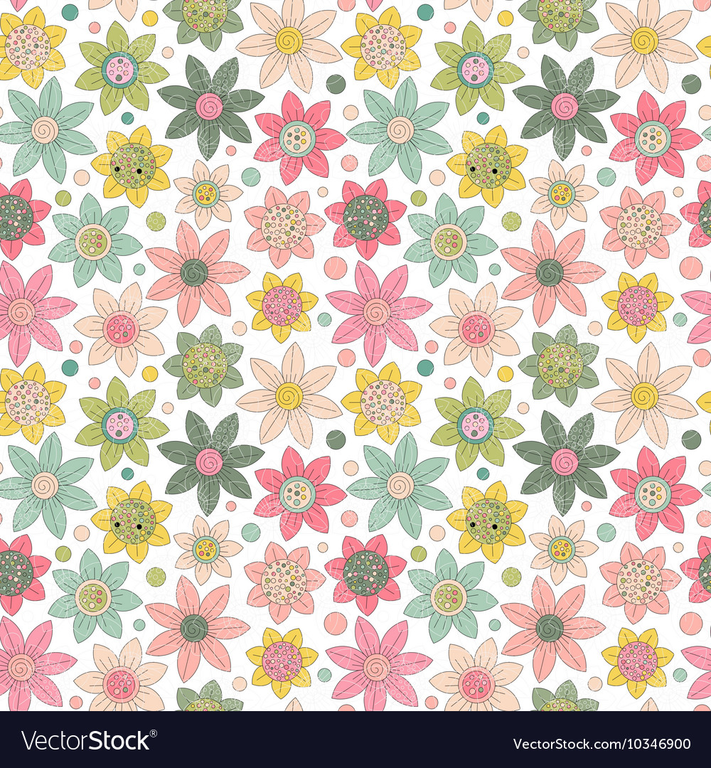 Simple floral pattern seamless background
