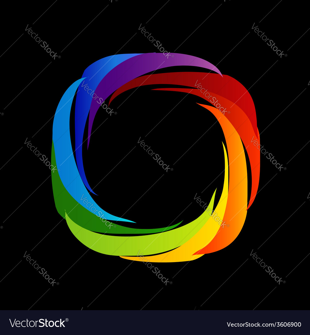 Spectrum Of Visible Light Color Wheel Design Vector Image