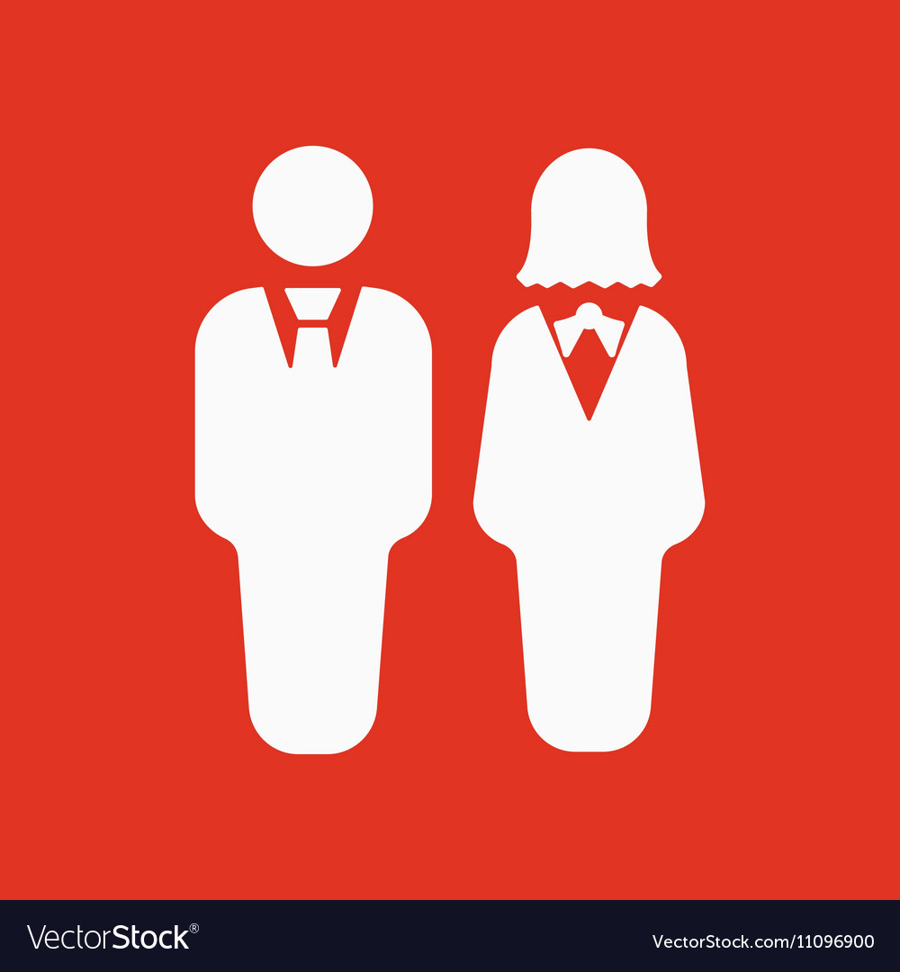 The man and woman icon Partners And Human symbol