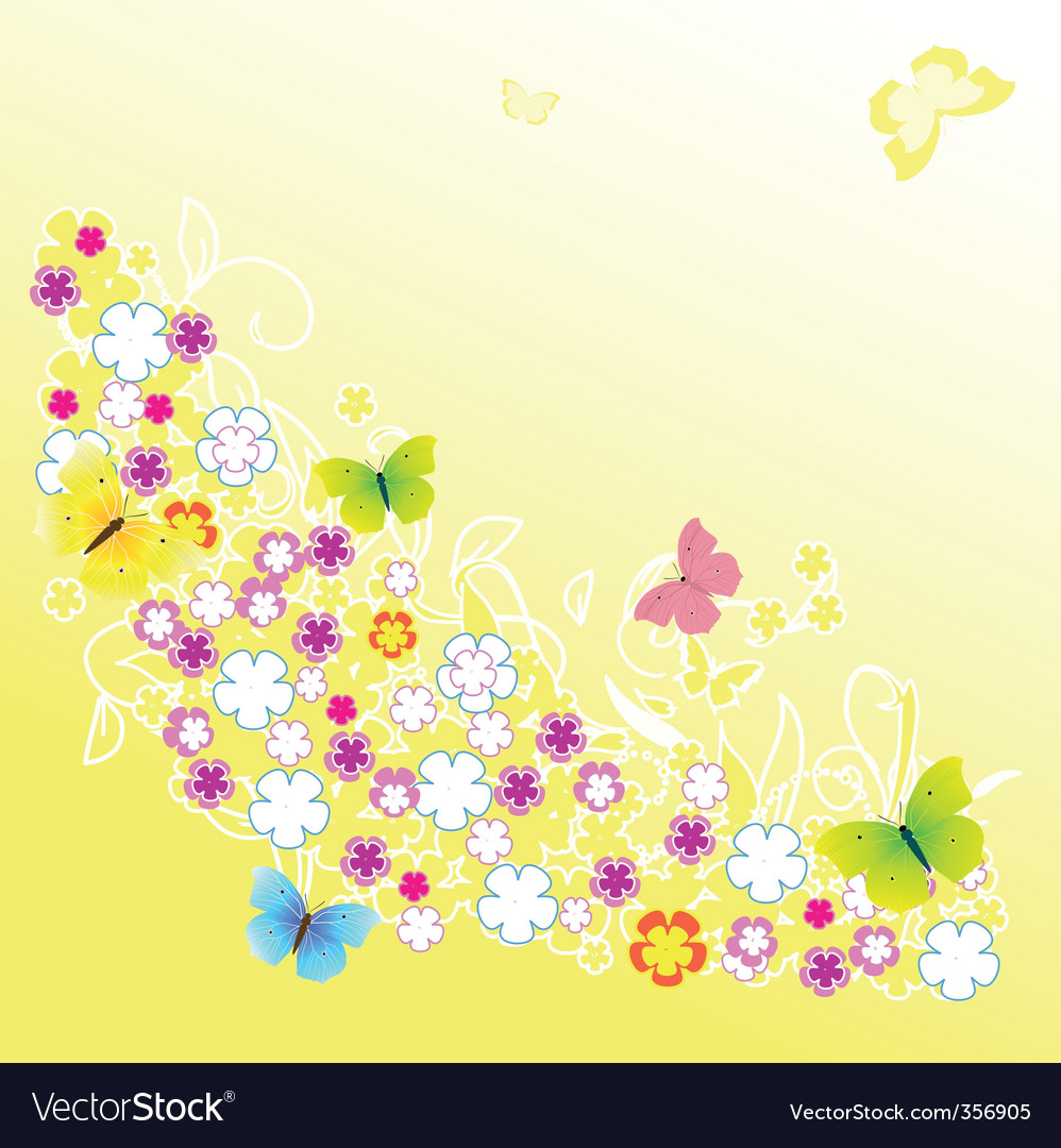 Abstract Background Of Yellow Flower Royalty Free Vector