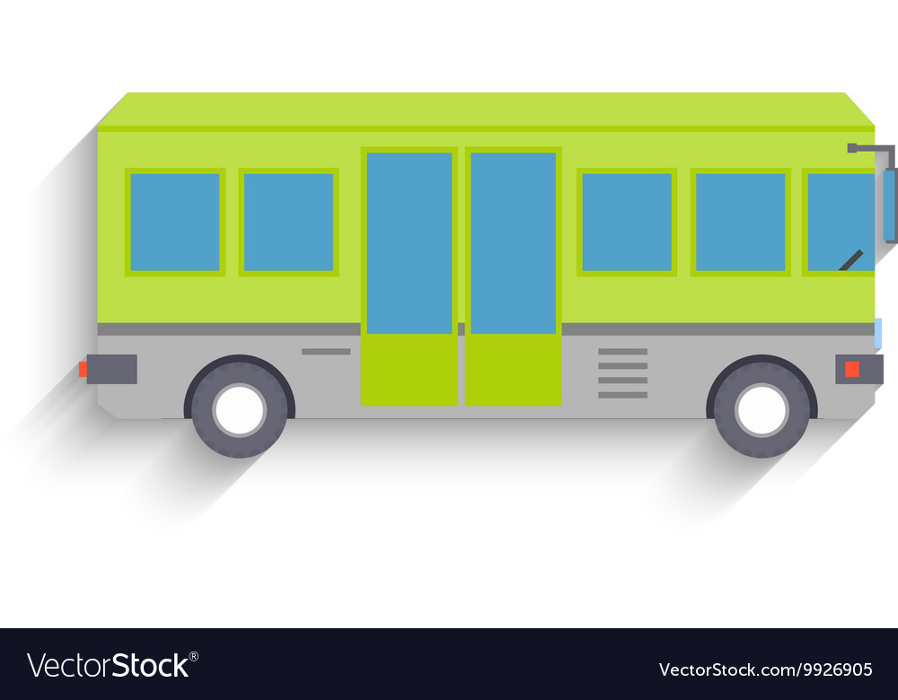 Cool modern flat design public transport items bus