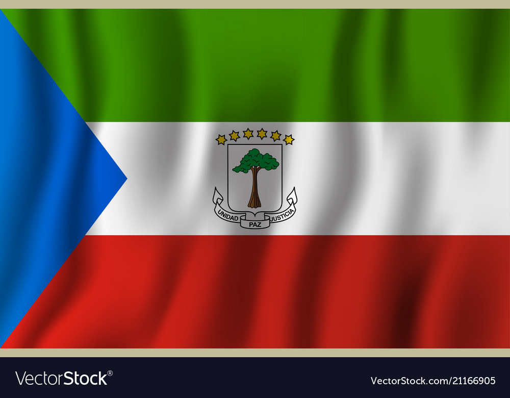 Equatorial Guinea Realistic Waving Flag National