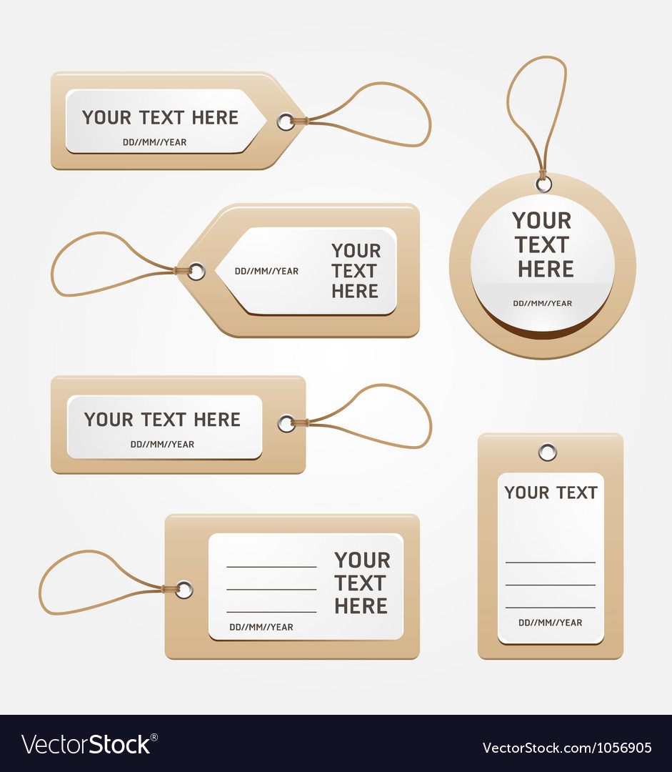 Paper price tag vector image