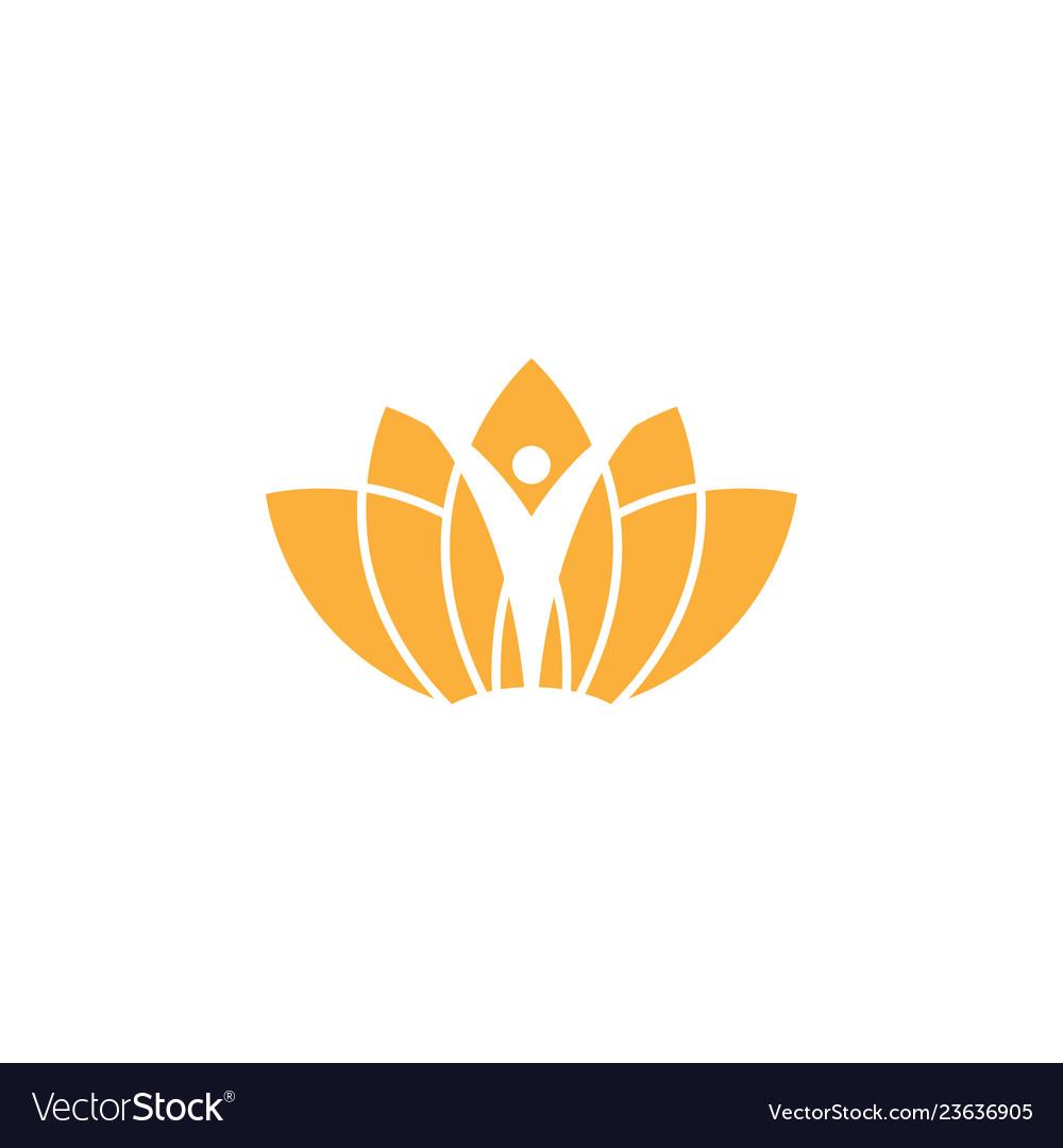 Spa aesthetic logo design template