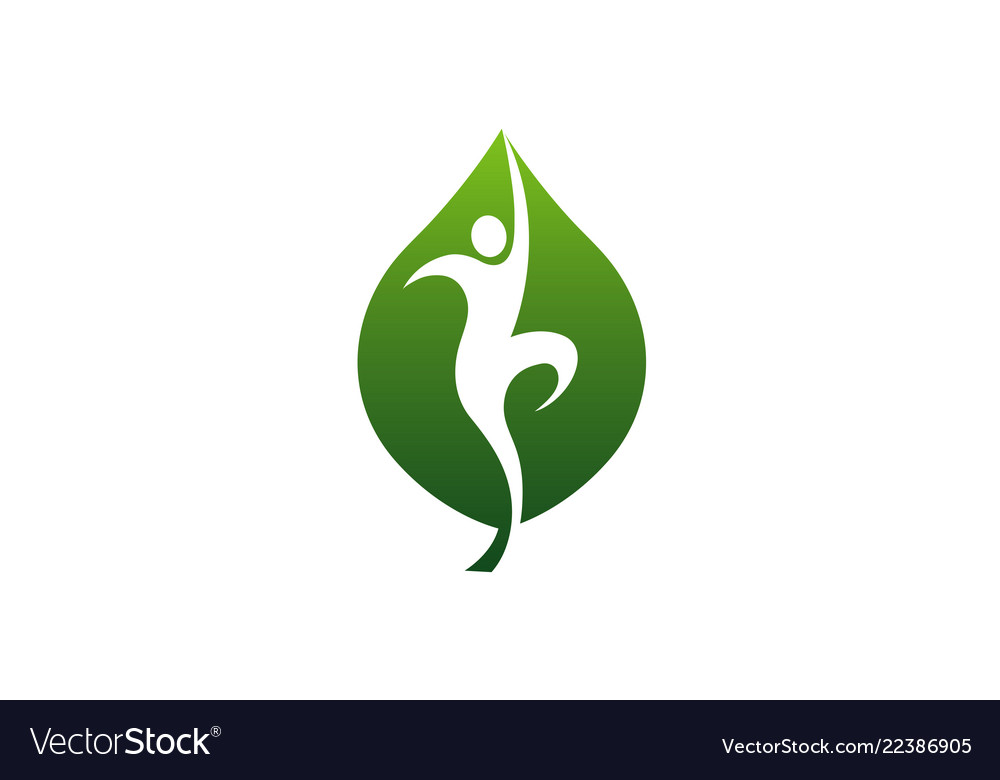 Wellness leaf logo