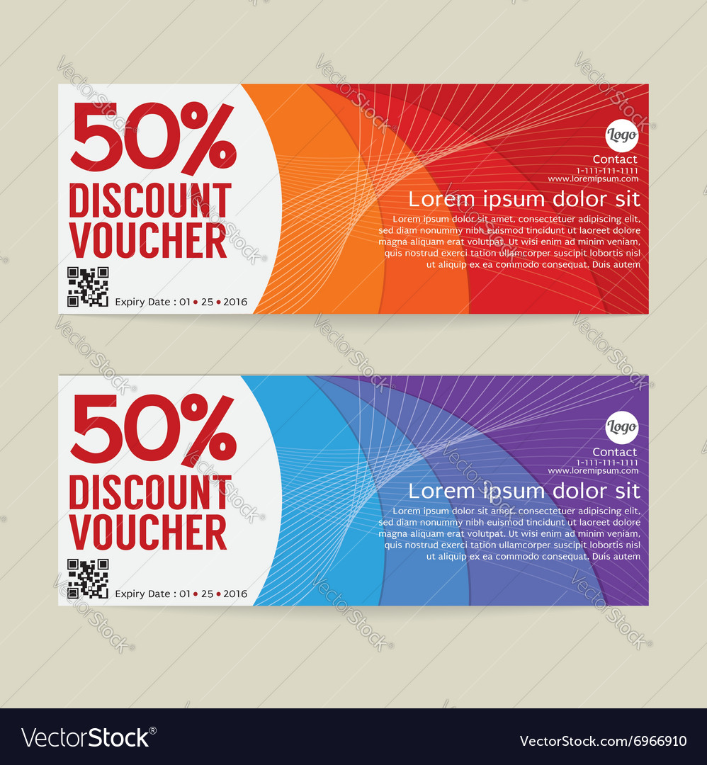 50 percen discount voucher modern template design vector image yelopaper Images