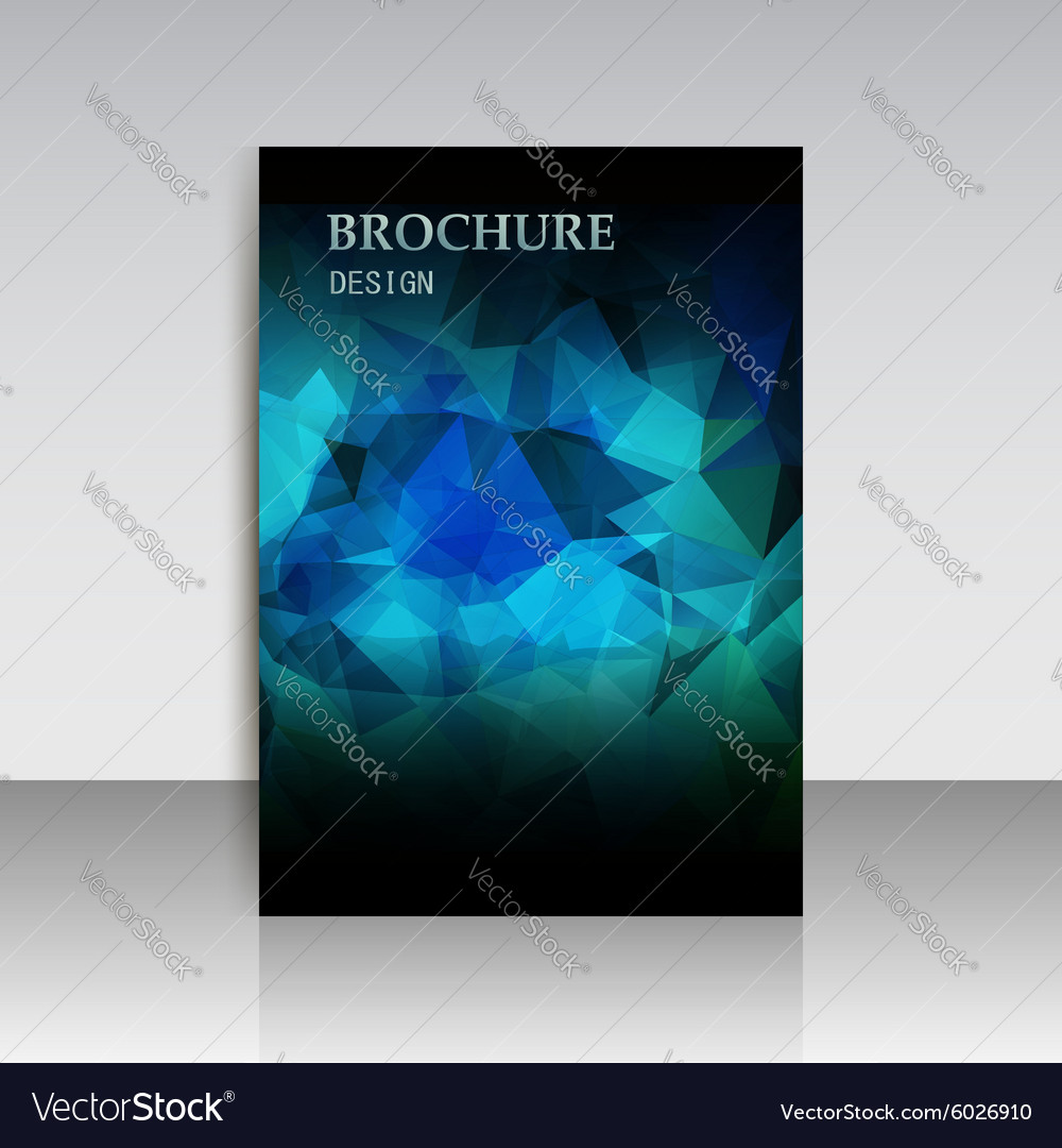 Abstract modern cover report brochure flyer design