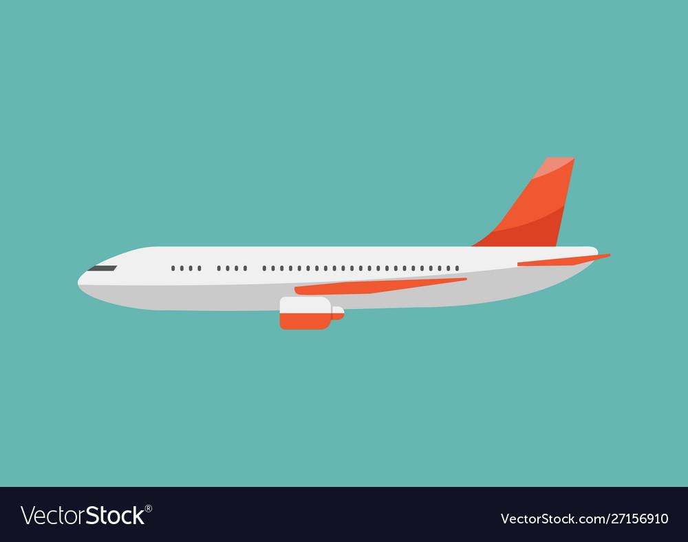 Airplane flat style