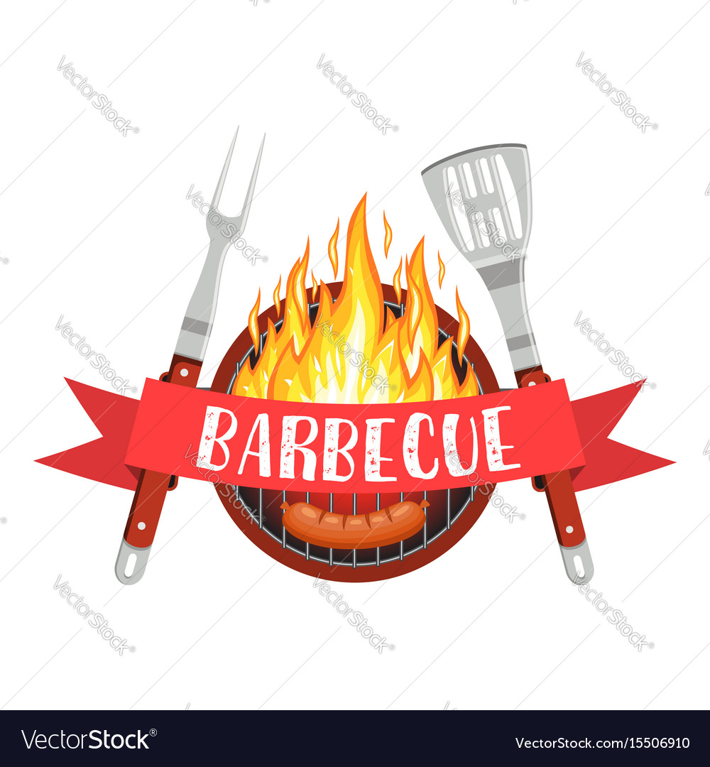 Barbecue party logo