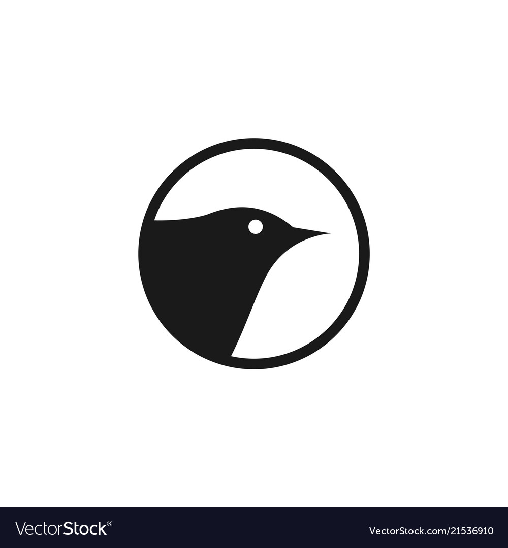 Bird flat logo template design