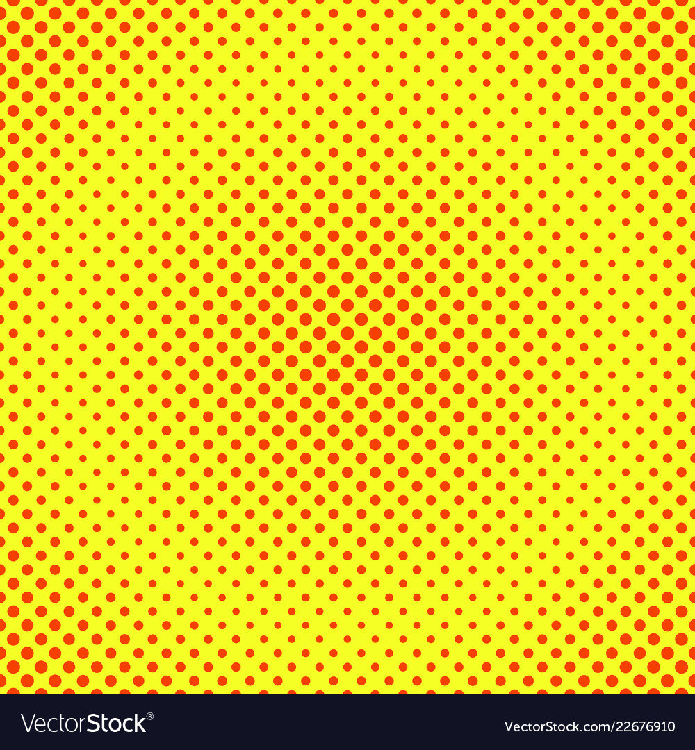 Halftone background red and yellow