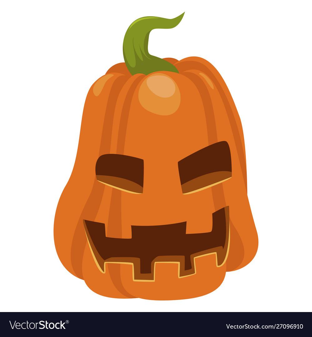 Halloween orange pumpkin icon autumn seasonal