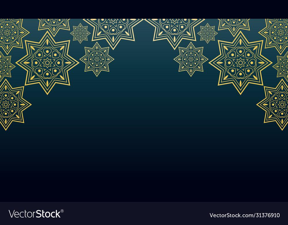 Islamic Background Design For Ramadan Kareem Vector Image