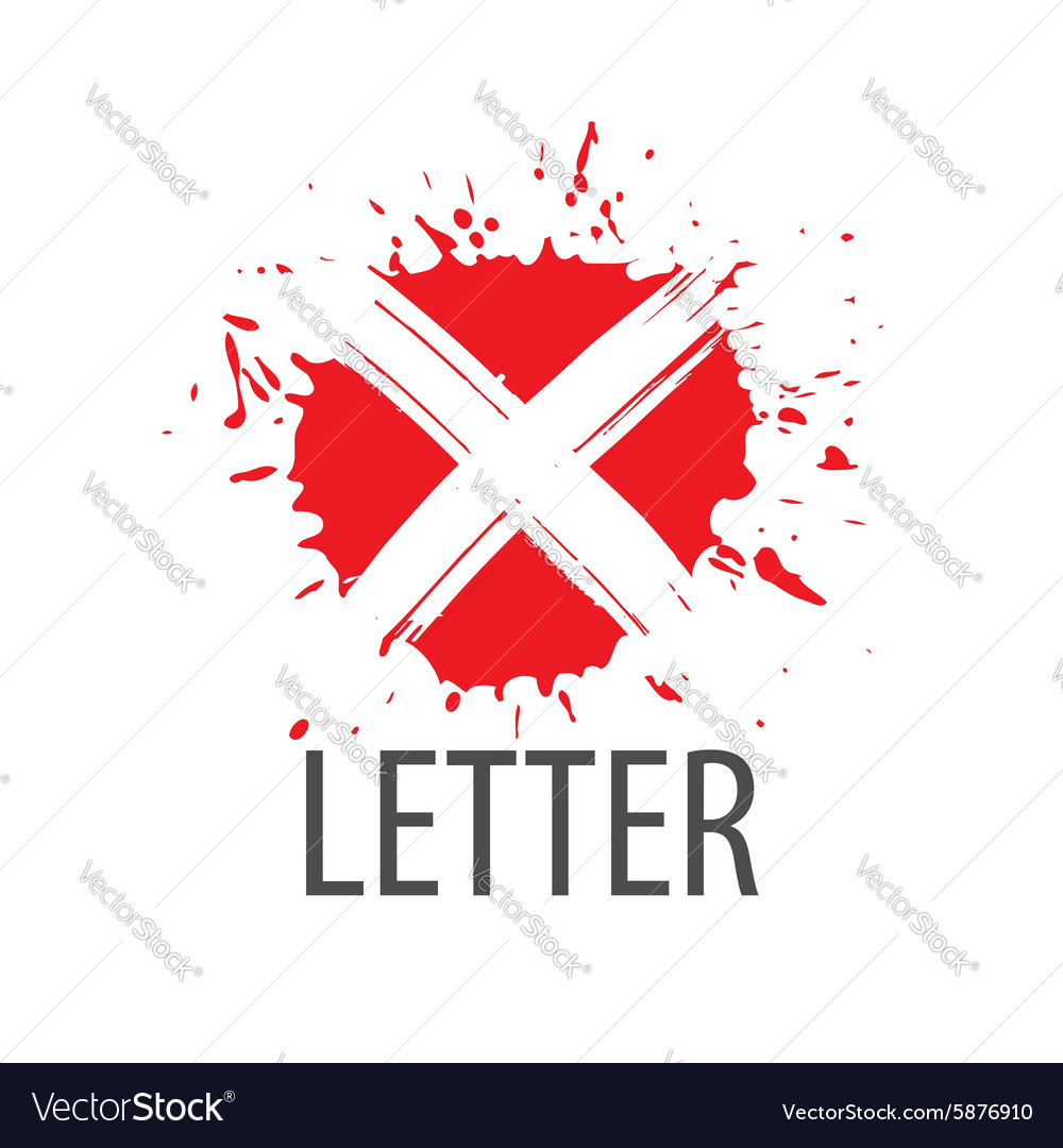 Logo letter X in the form of blots vector image