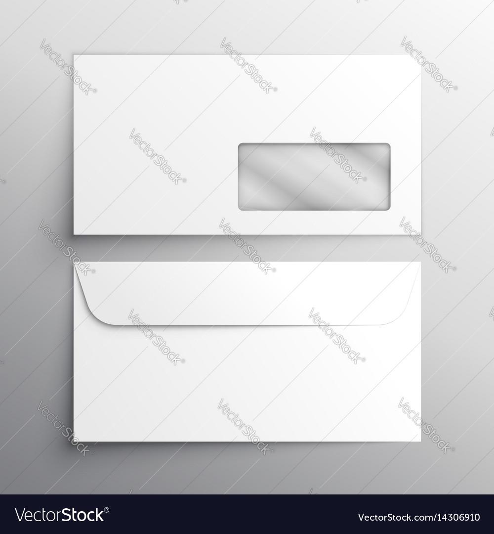 Realistic Envelope Mockup Template Royalty Free Vector Image