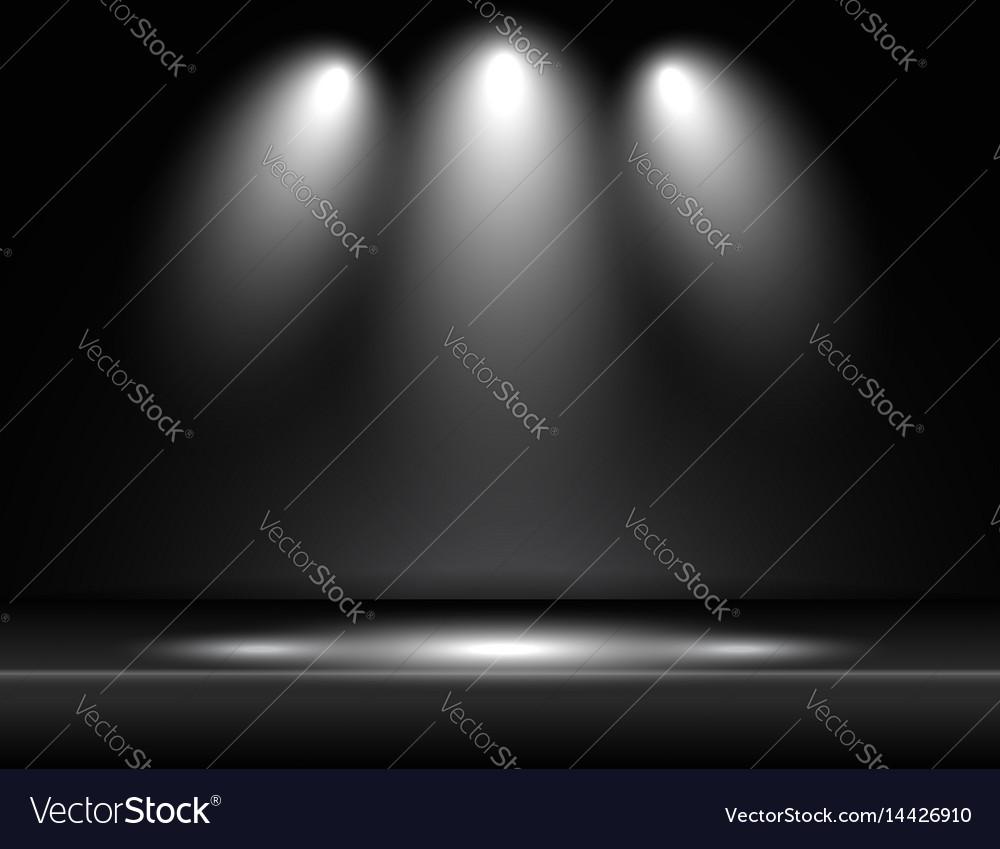 Spotlight black light rays room studio background