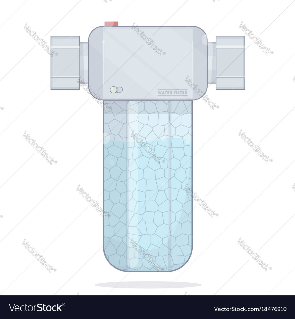 Water Filter Icons Filtering Royalty Free Vector Image