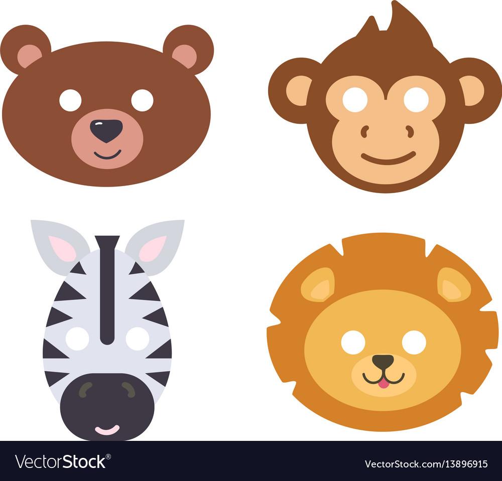 Animals carnival mask set festival