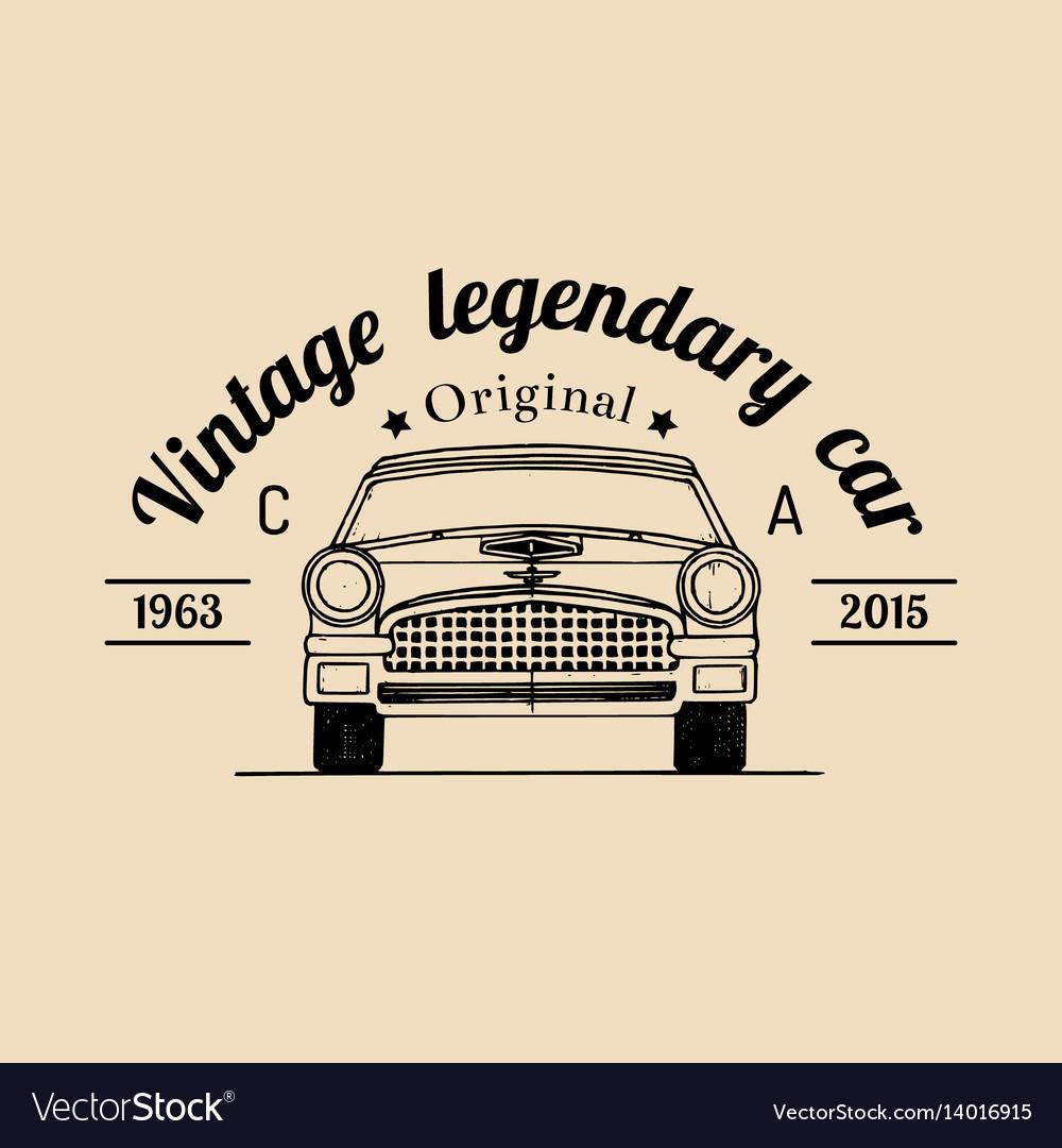 Car repair logo with retro automobile