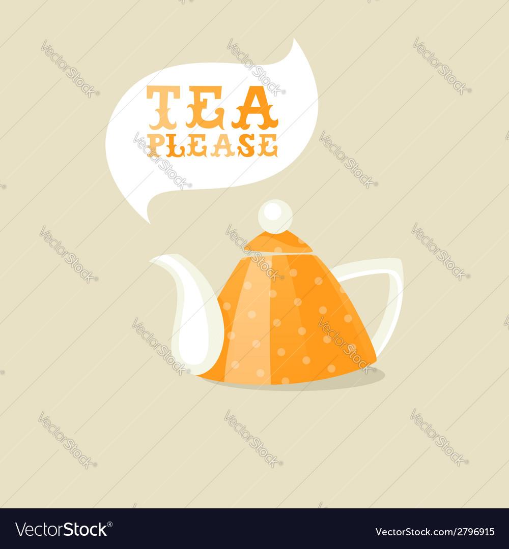 Cartoon teapot vector image