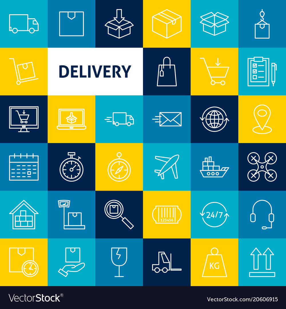 Delivery line icons