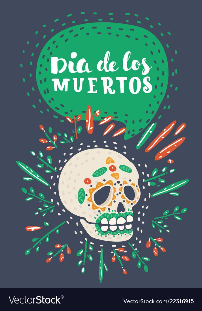 Dia de los muertos day of the dead sugar skull