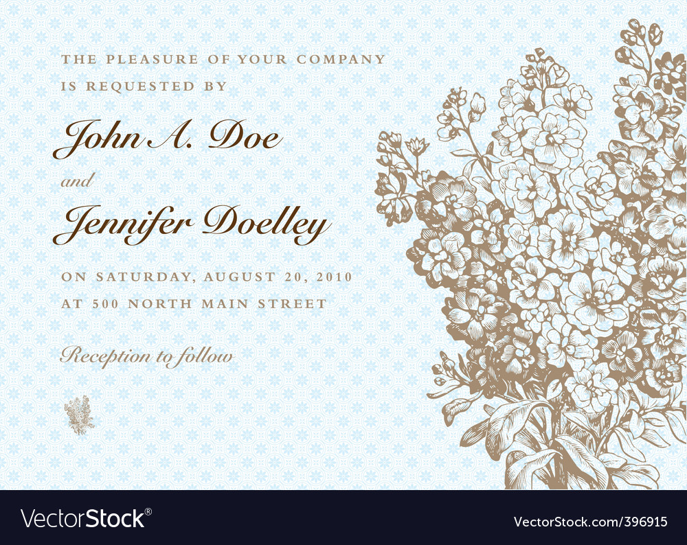 Formal invitation royalty free vector image vectorstock formal invitation vector image stopboris Images