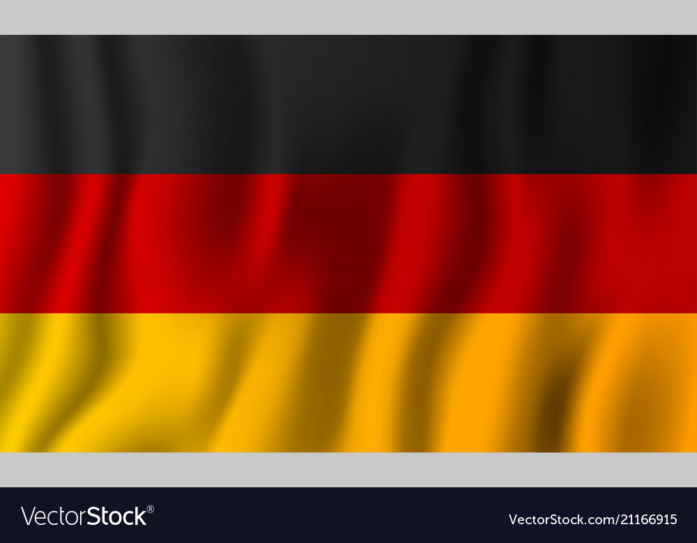 Germany realistic waving flag national country