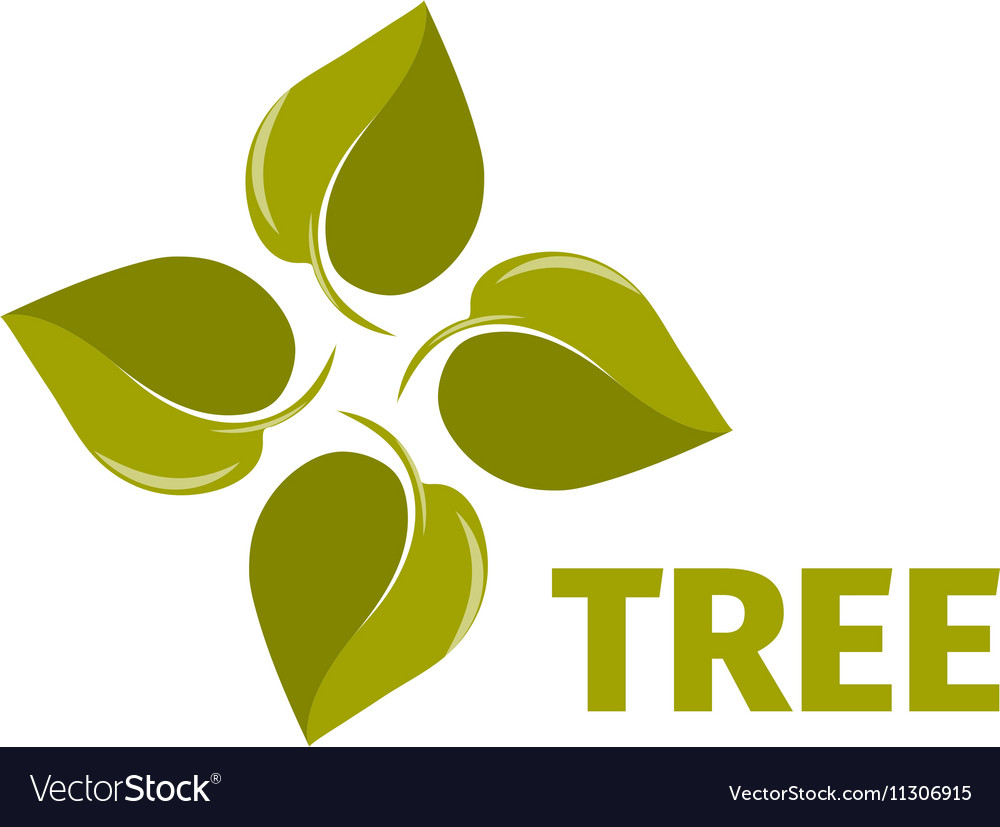 Isolated abstract green color leaves logo Tree