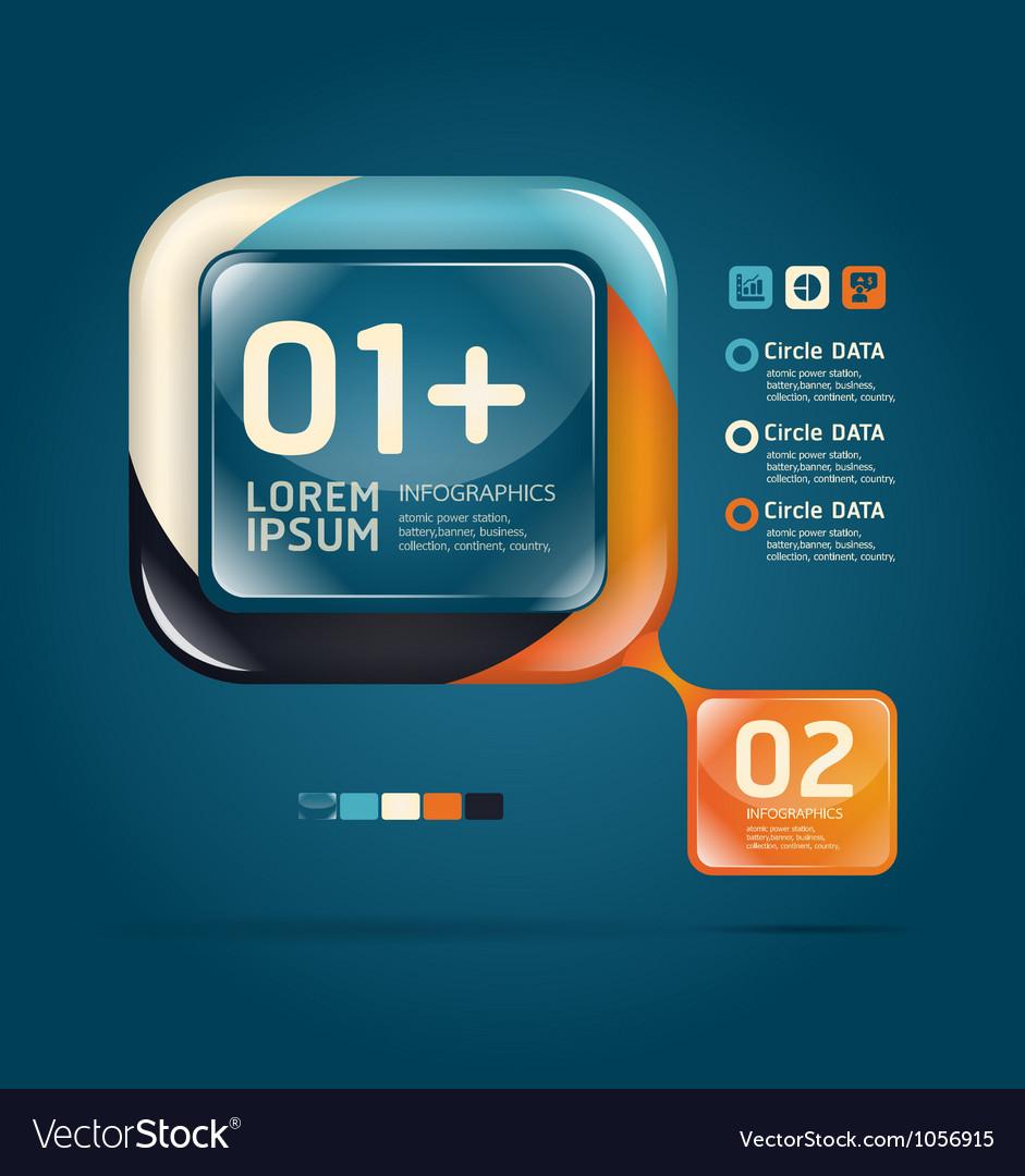 Modern glass color Design template
