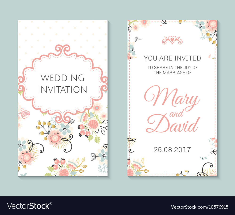 Romantic cards template