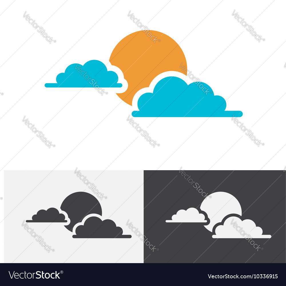Sun cloud logo