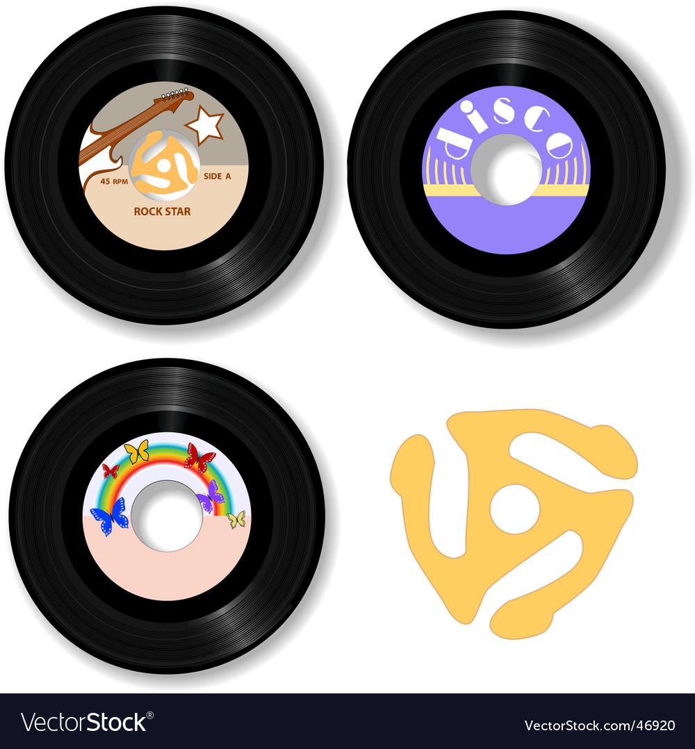 Retro 45 rpm record labels