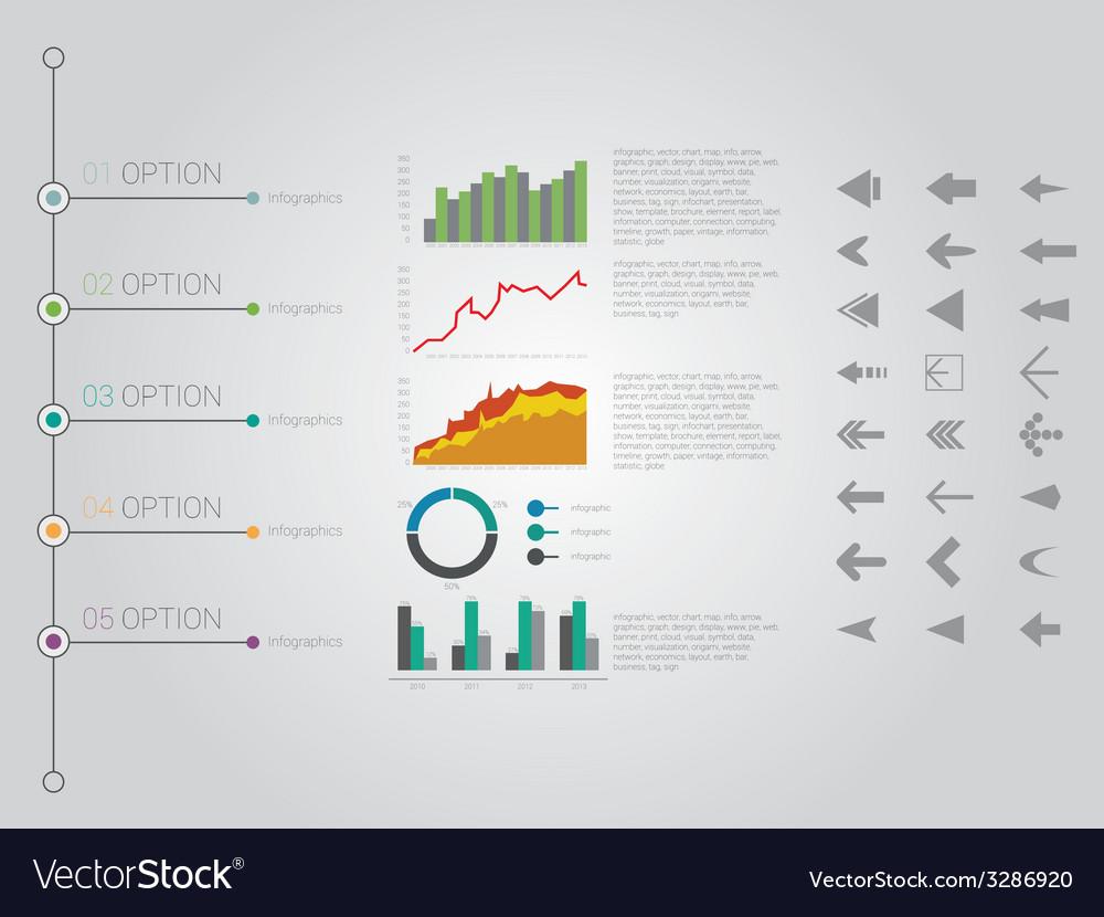 Retro Timeline Infographic design
