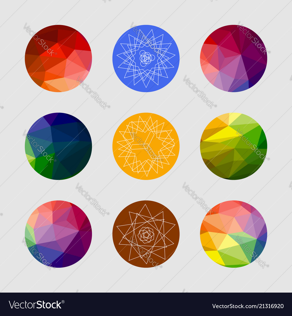 Set of geometric shapes geometric background
