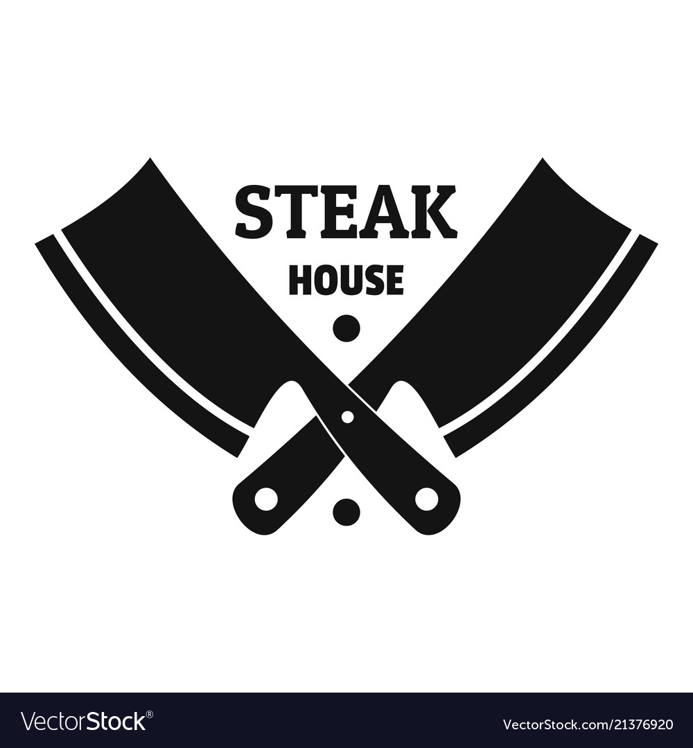 Steak house logo simple style