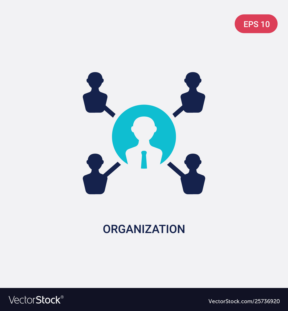 Two color organization icon from digital economy
