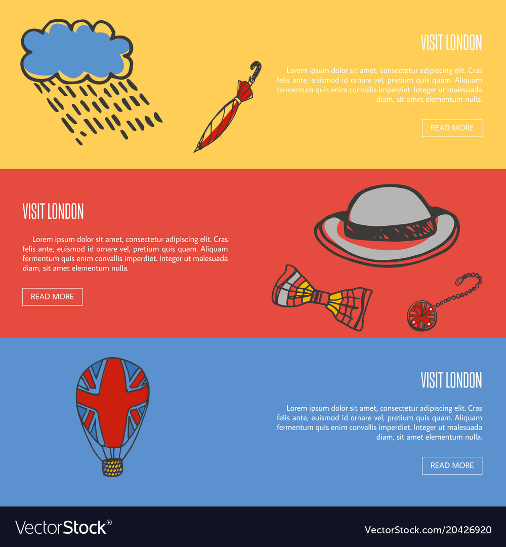 Visit london touristic web banners