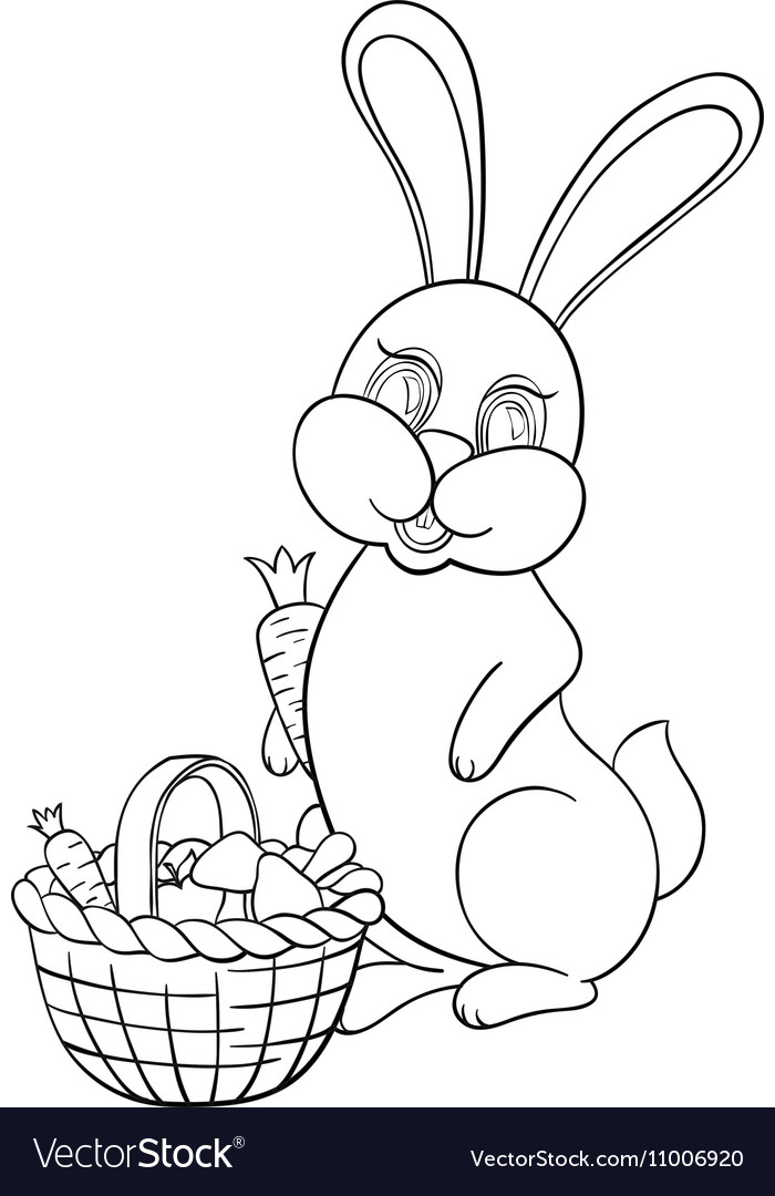 With rabbit vector image