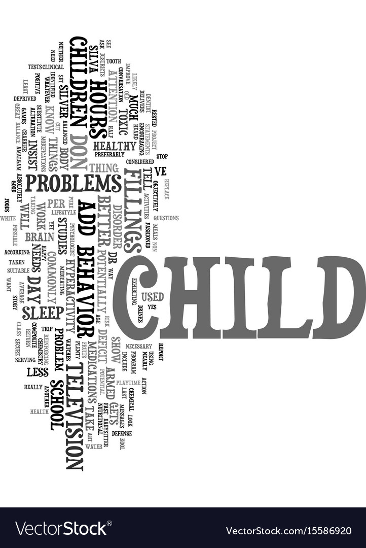 Your child has add text word cloud concept