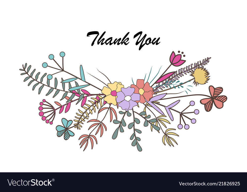 Beautiful floral thank you card cute flower