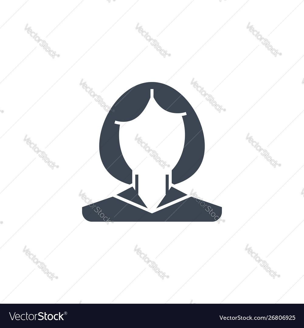 Employee woman related glyph icon