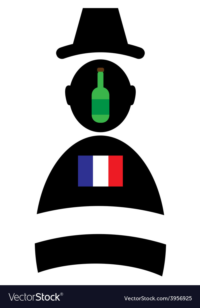 Icon of man with bottle and flag vector image
