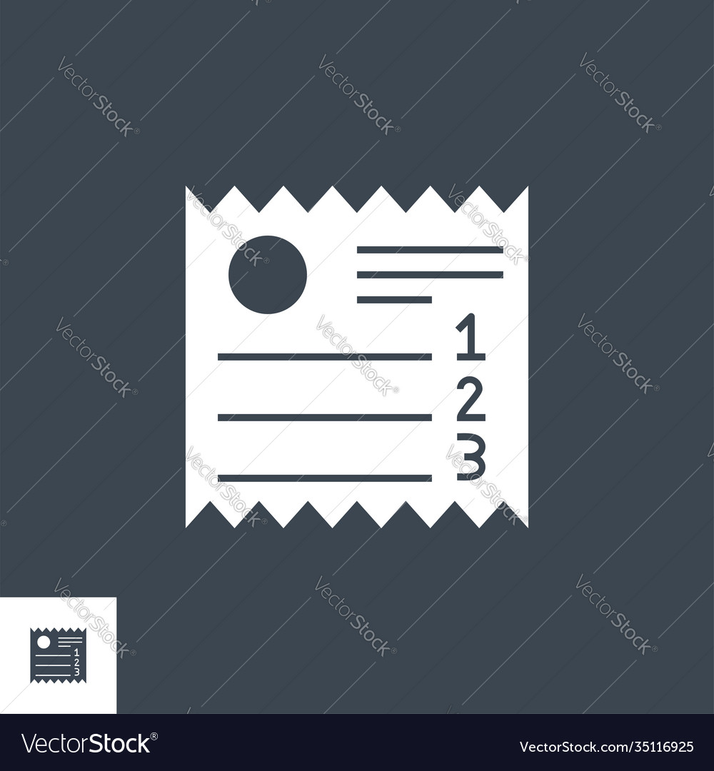 Sales receipt related glyph icon