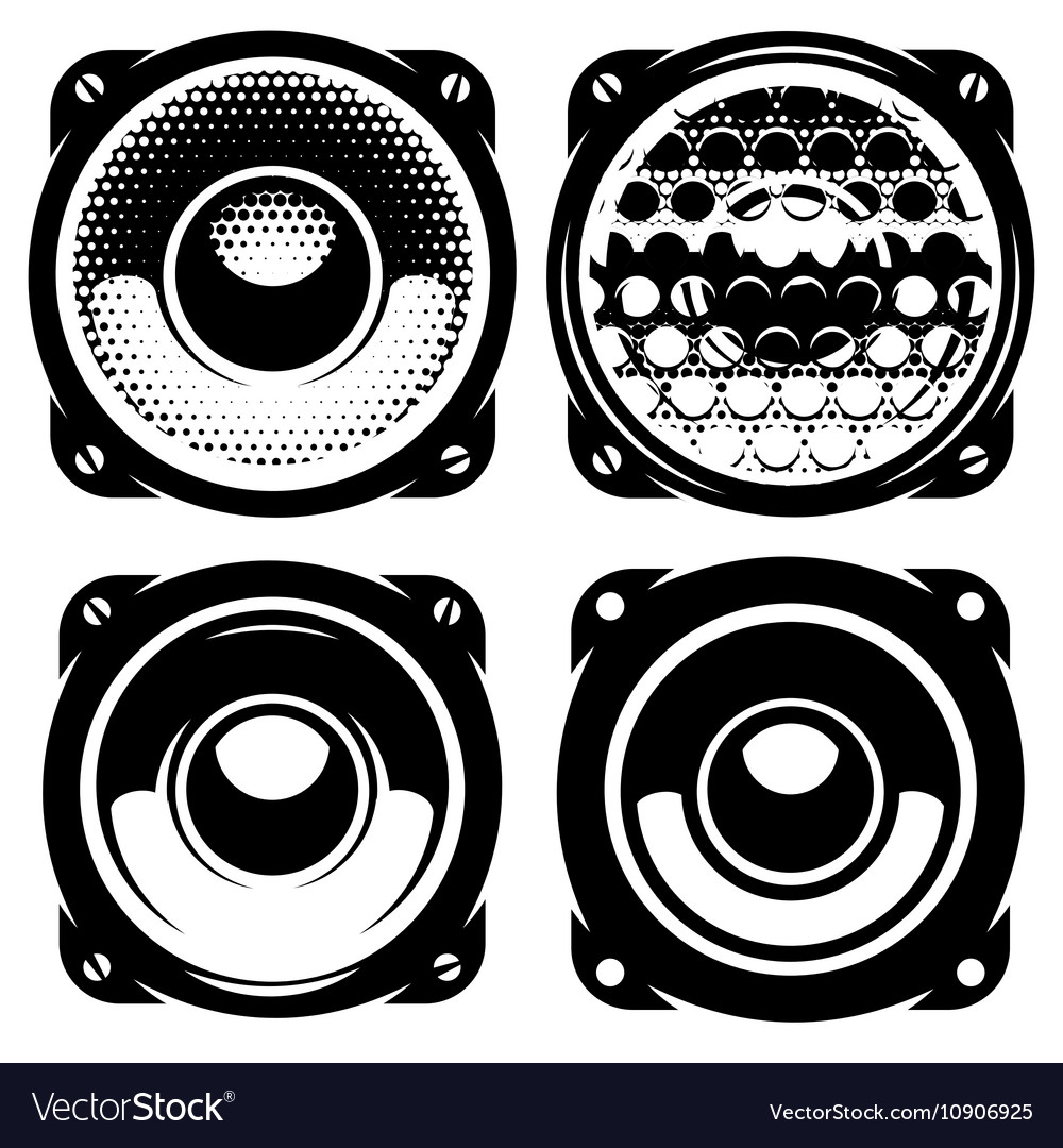 Set of templates for posters or badges with vector image