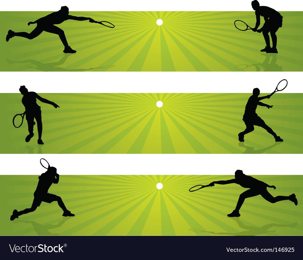 Tennis Banners Royalty Free Vector Image Vectorstock